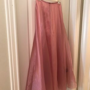 Beautiful Pink Chiffon Evening Skirt